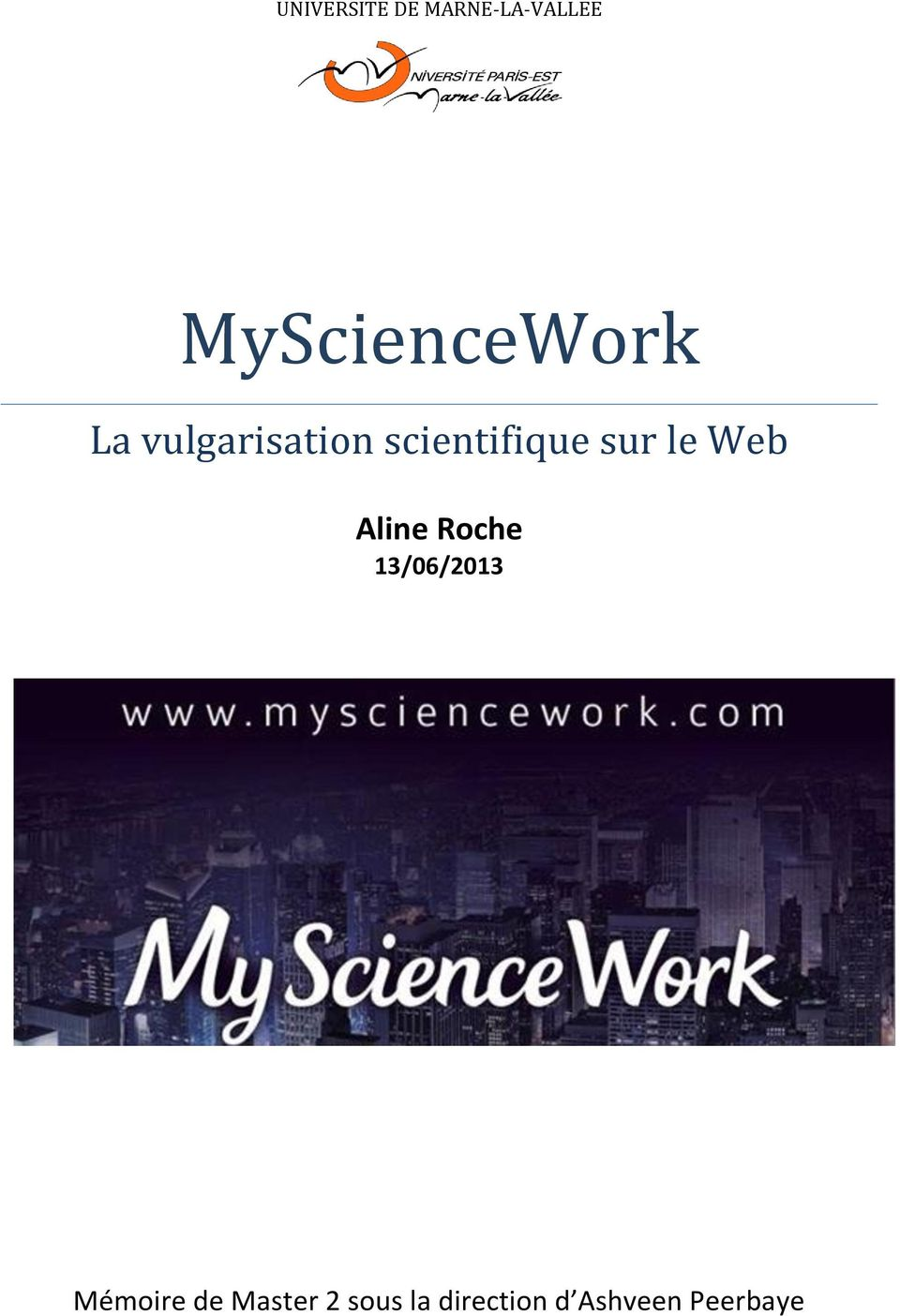scientifique sur le Web Aline Roche