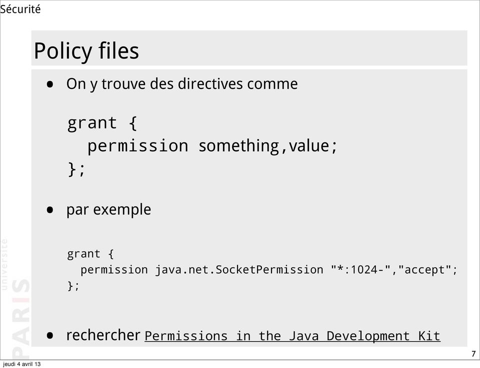permission java.net.