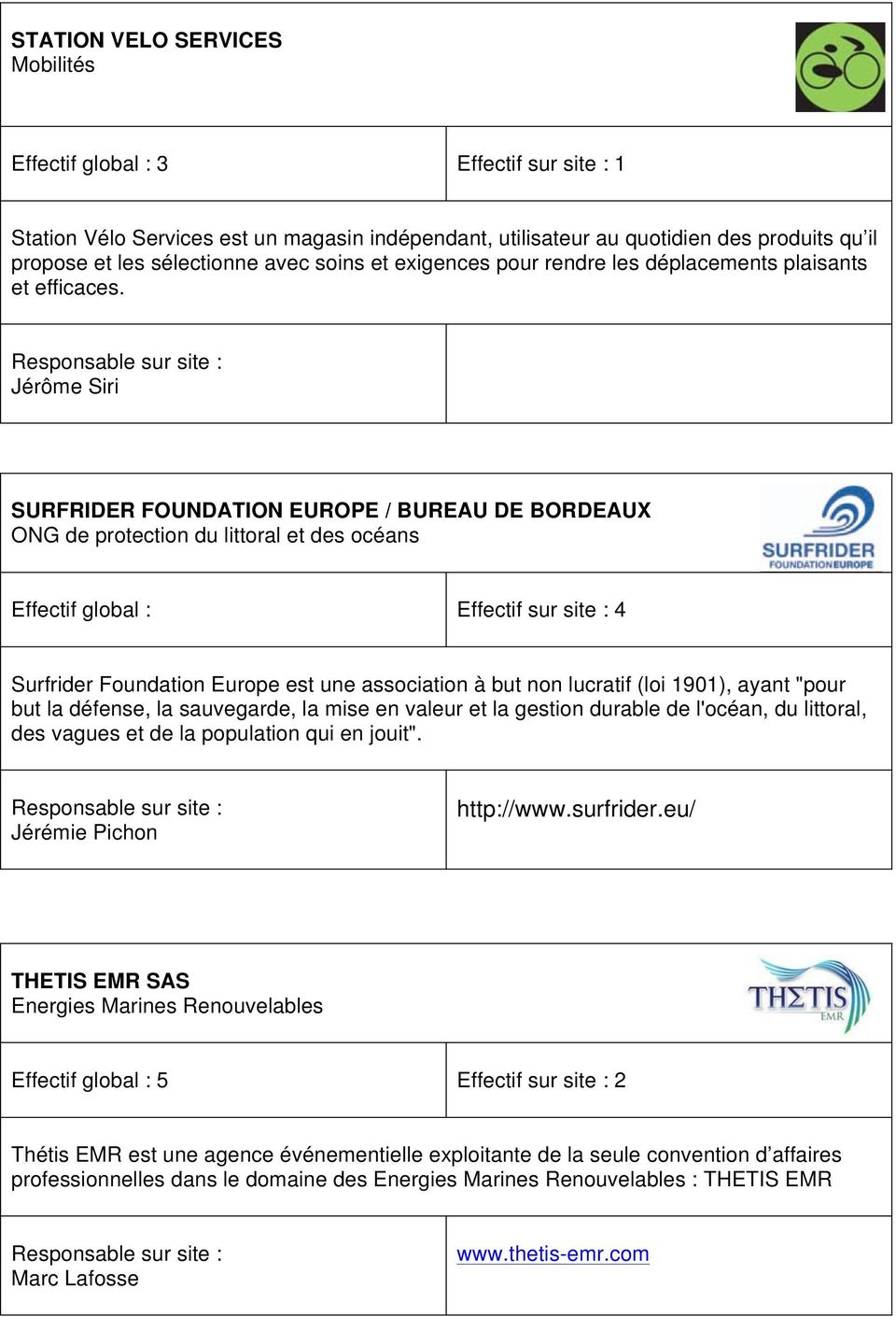 Jérôme Siri SURFRIDER FOUNDATION EUROPE / BUREAU DE BORDEAUX ONG de protection du littoral et des océans Effectif global : Effectif sur site : 4 Surfrider Foundation Europe est une association à but