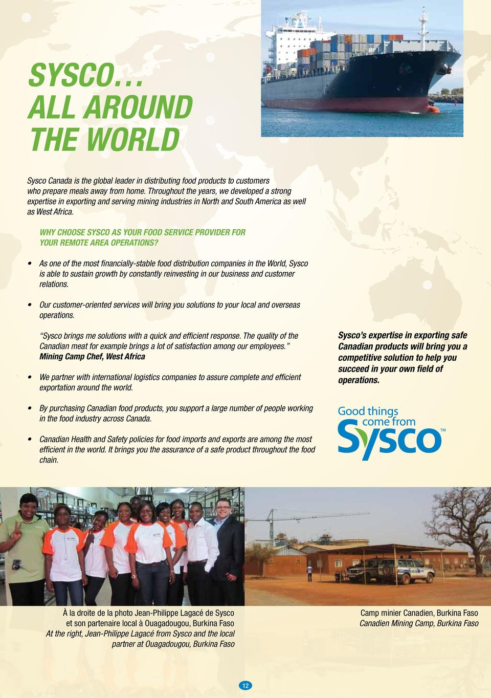 Why choose Sysco as your food service provider for your remote area operations?