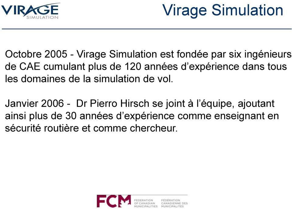 simulation de vol.