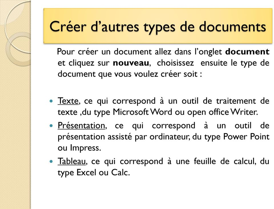 de texte,du type Microsoft Word ou open office Writer.