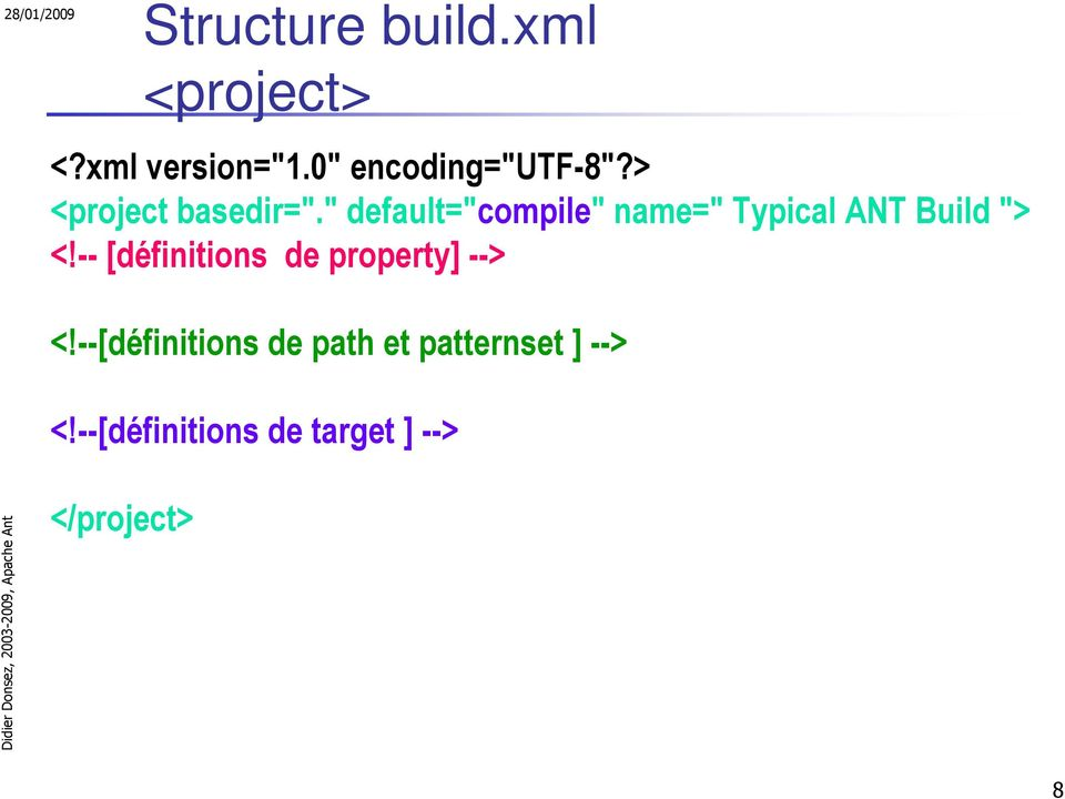 """ default=""compile"" name="" Typical ANT Build ""> <!"