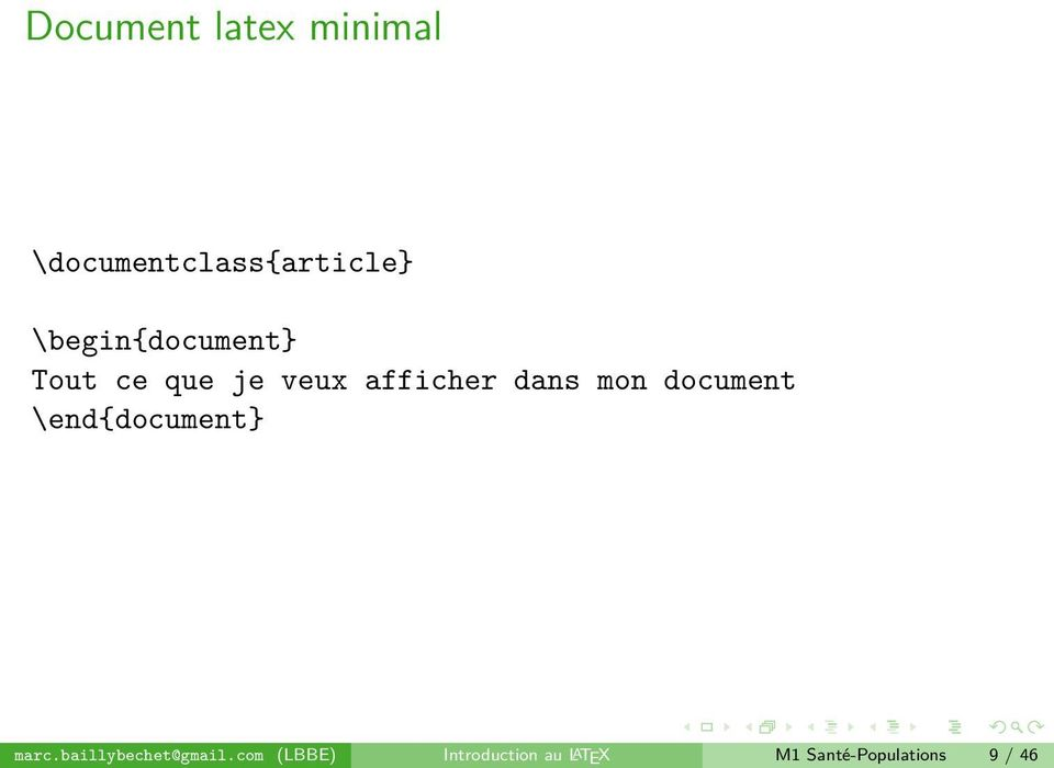 mon document \end{document} marc.baillybechet@gmail.