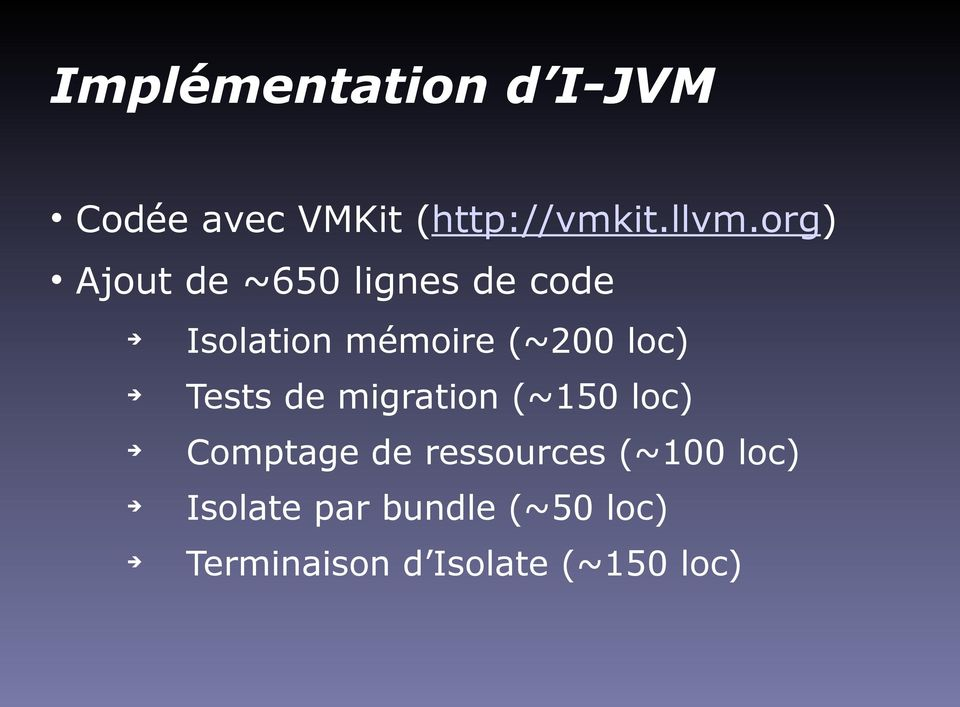 loc) Tests de migration (~150 loc) Comptage de ressources