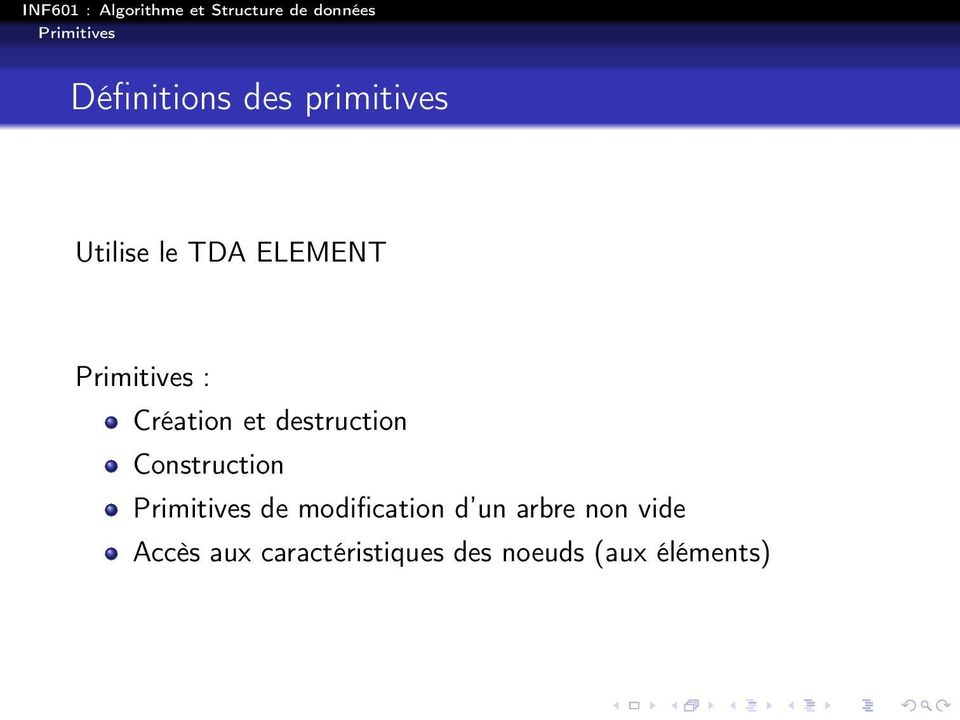 Construction Primitives e moification un arbre non