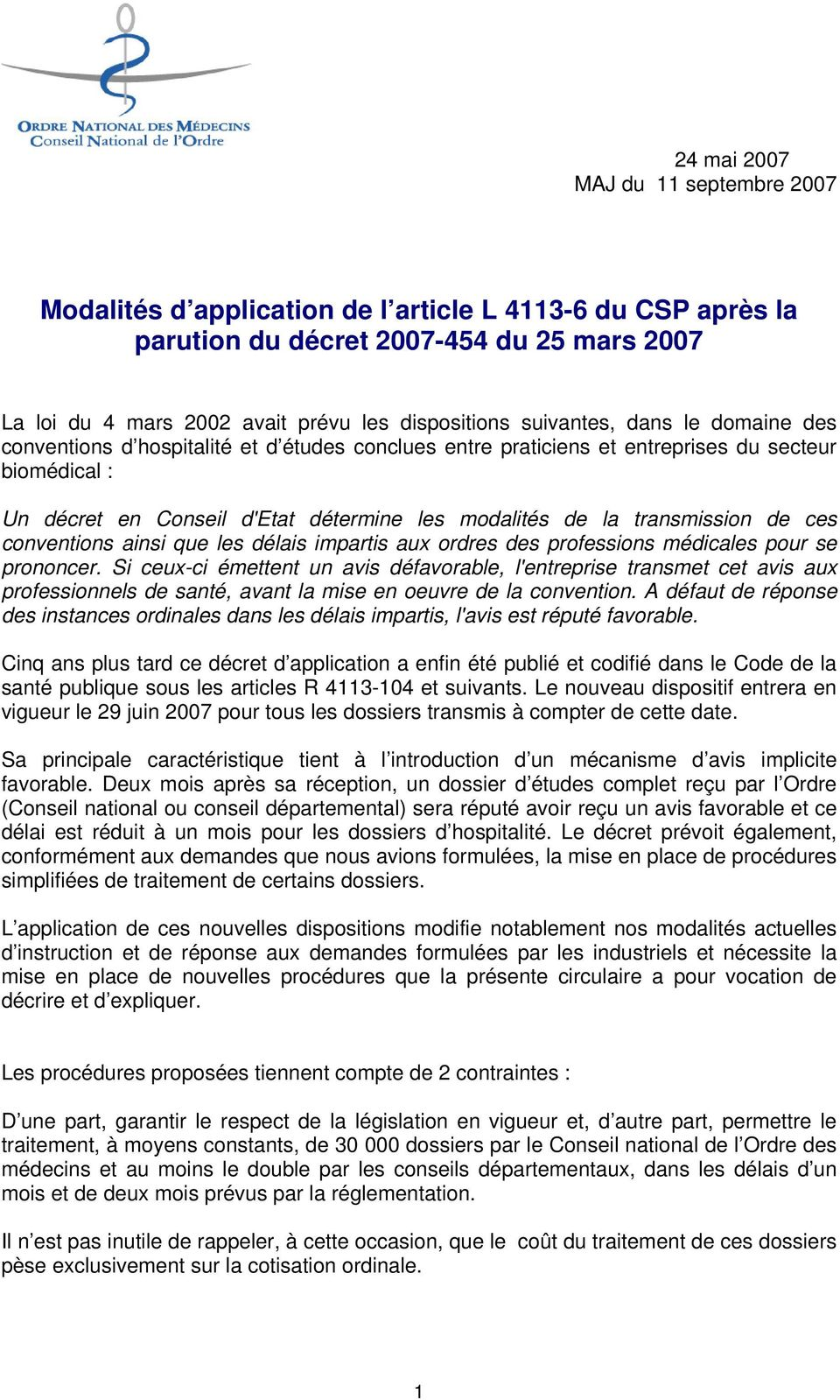 modalit s d application de l article l du csp apr s la parution du d cret du 25 mars pdf. Black Bedroom Furniture Sets. Home Design Ideas