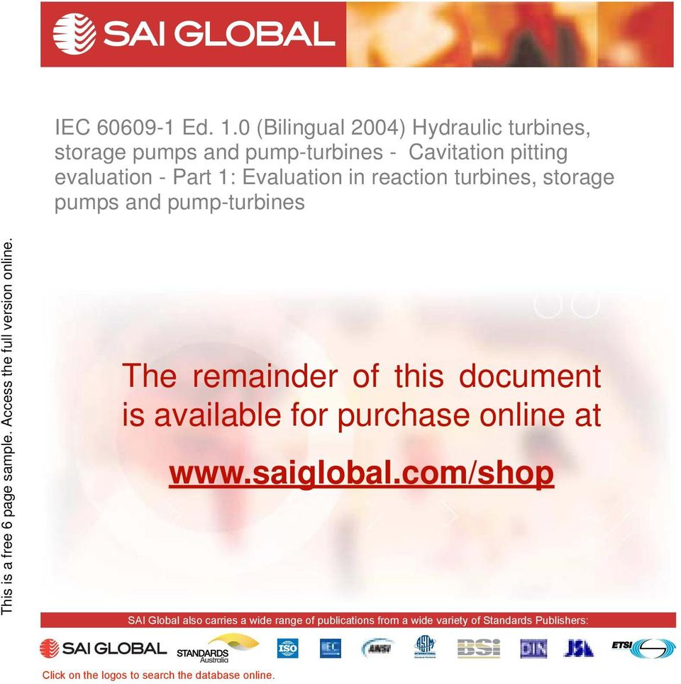com/shop SAI Global also carries a wide range of