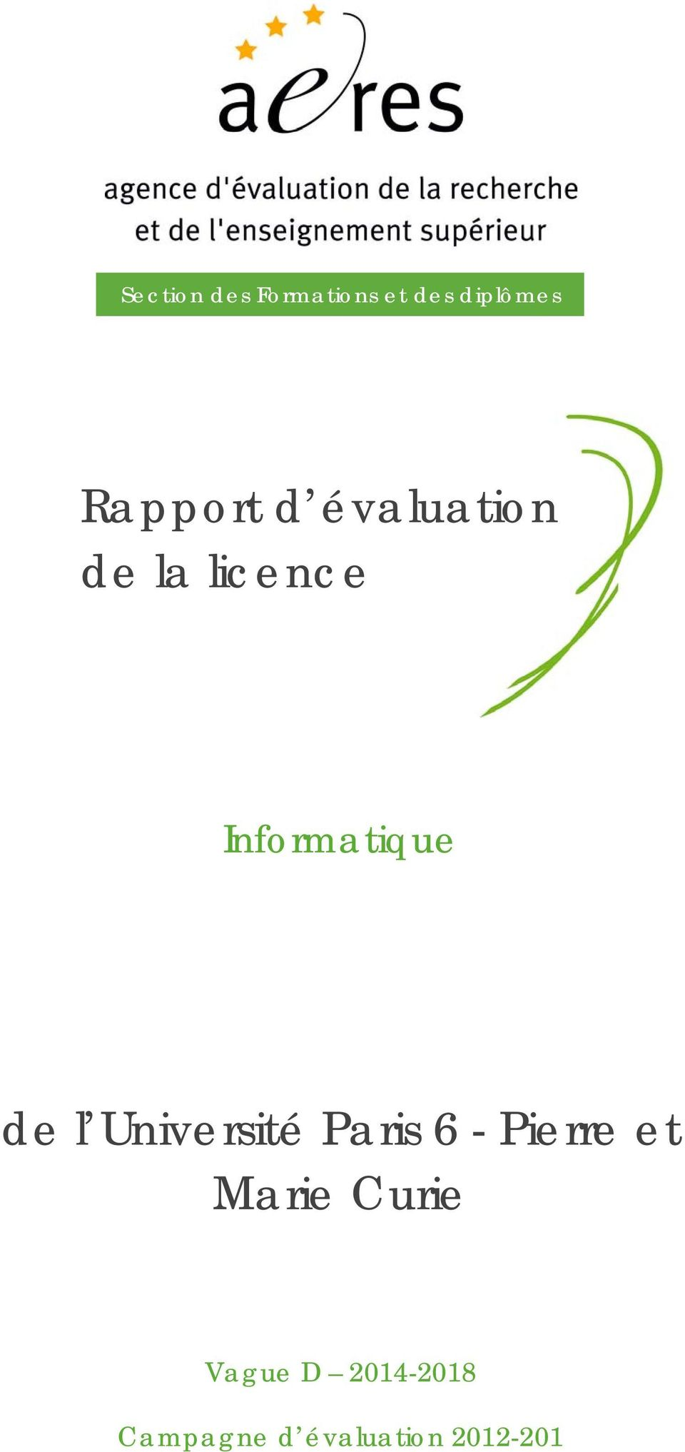 Informatique de l Université Paris 6 - Pierre
