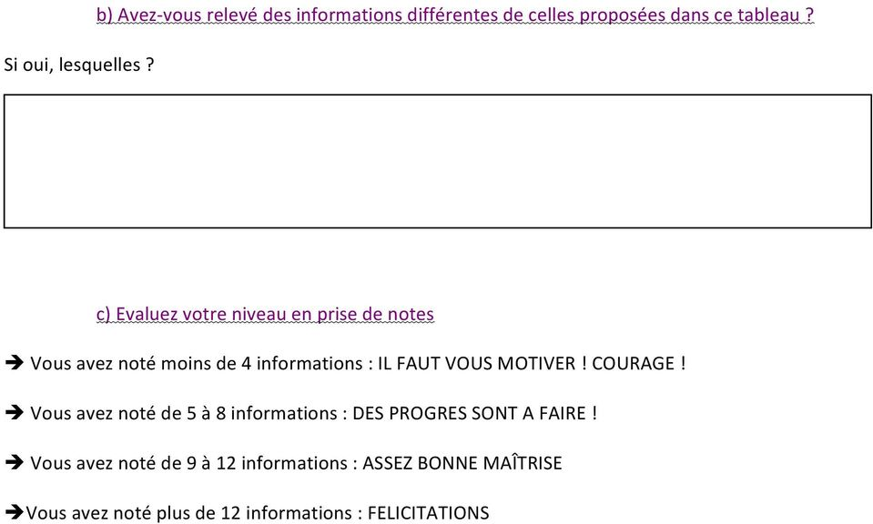 informations : IL FAUT VOUS MOTIVER! COURAGE!