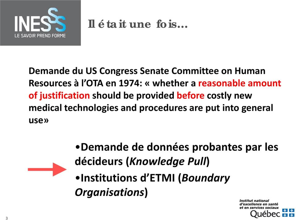 new medical technologies and procedures are put into general use» Demande de données