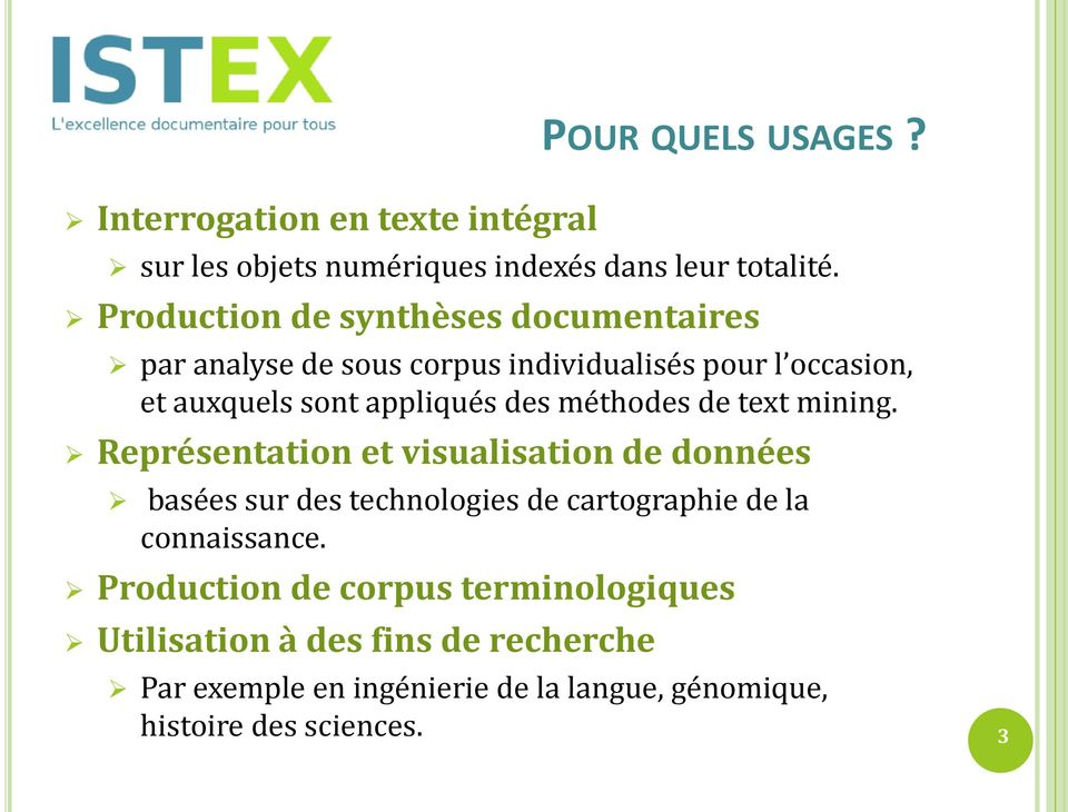 méthodes de text mining.
