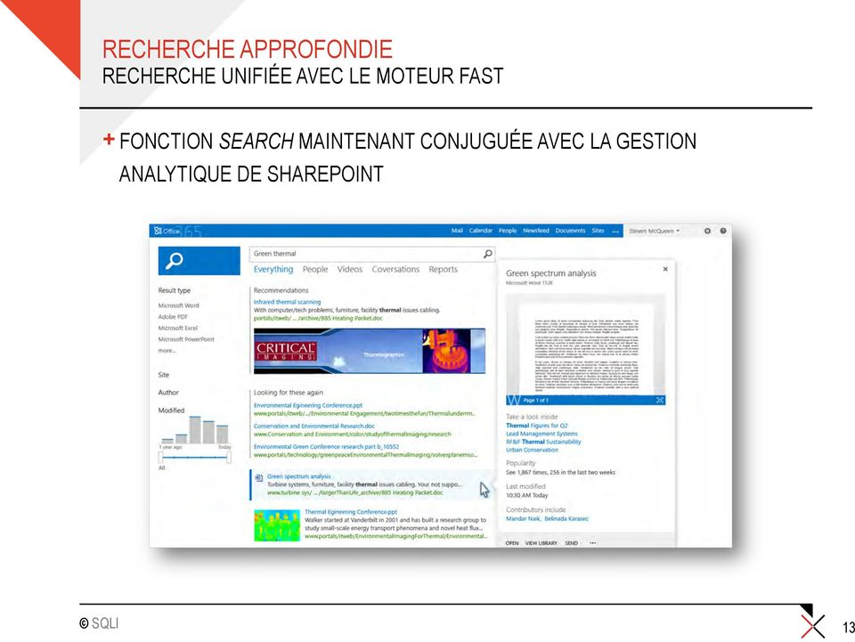FONCTION SEARCH MAINTENANT