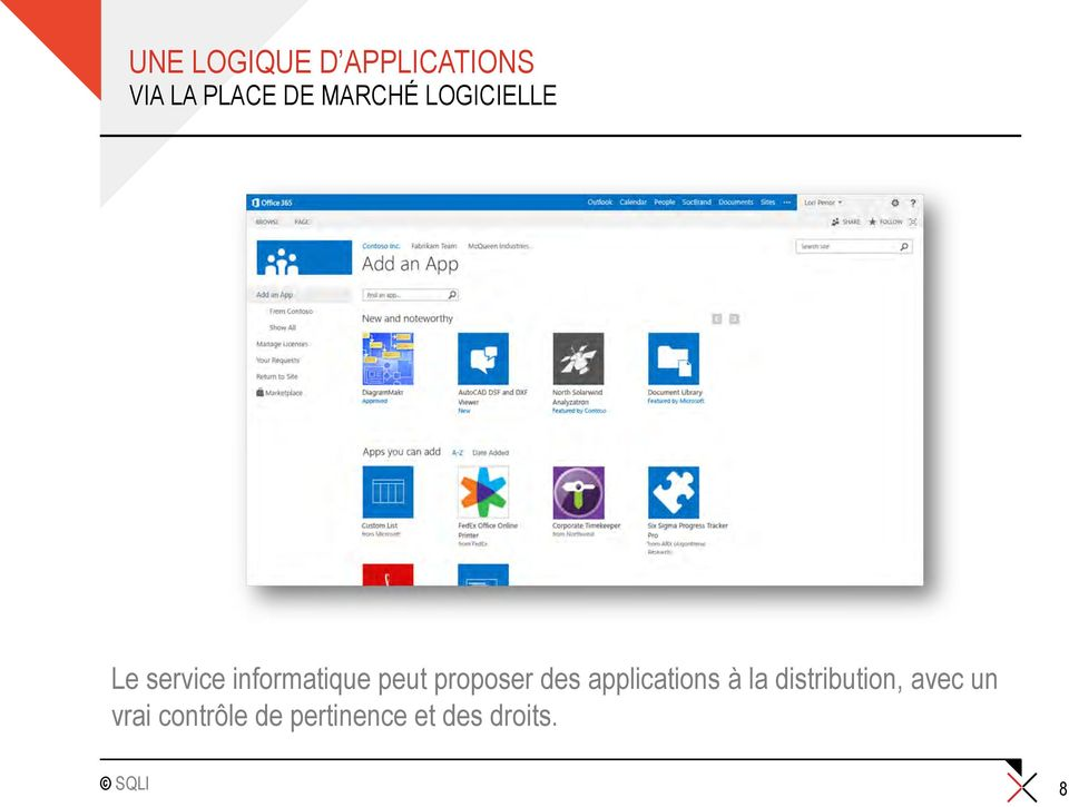 proposer des applications à la distribution,