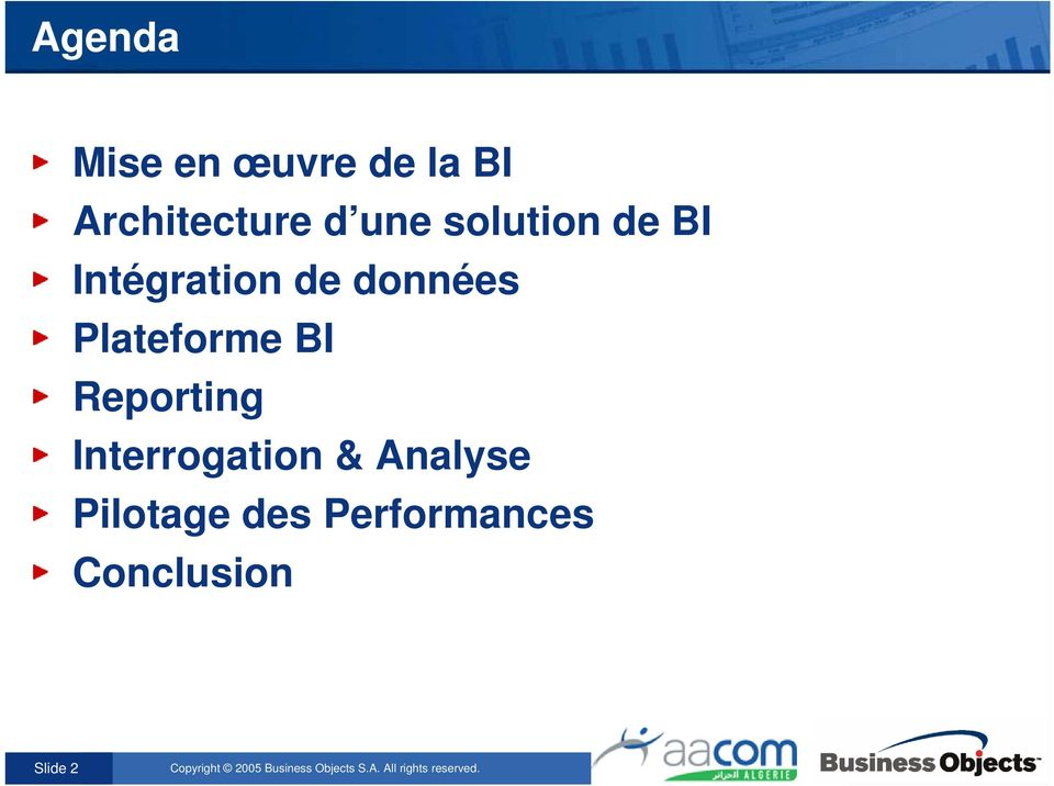 Plateforme BI Reporting Interrogation &