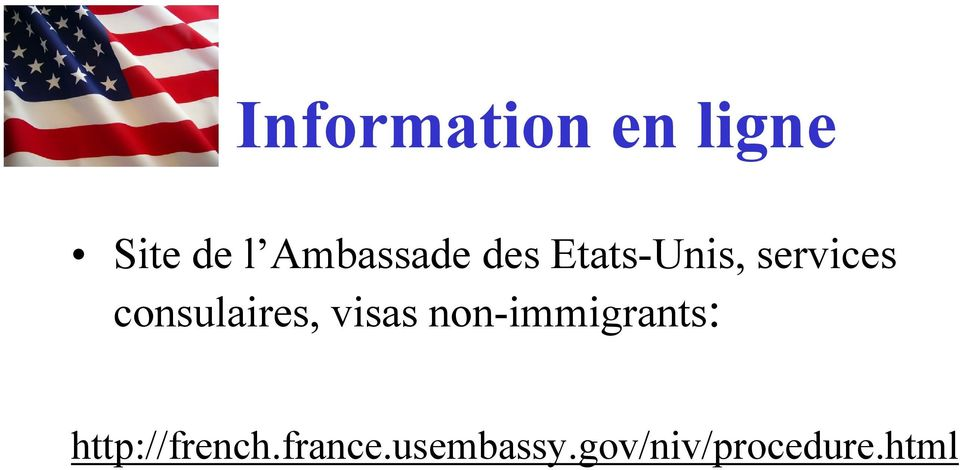 consulaires, visas non-immigrants: