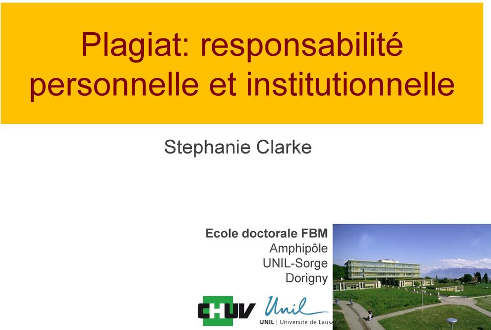 institutionnelle Stephanie