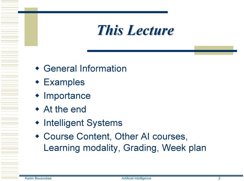 Content, Other AI courses, Learning modality,