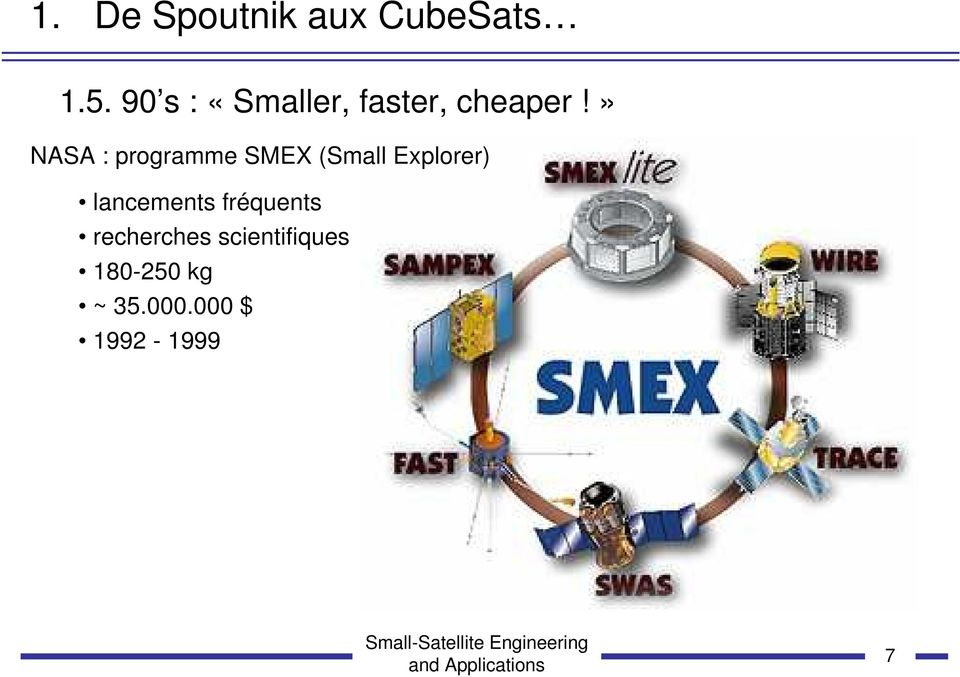 » NASA : programme SMEX (Small Explorer)