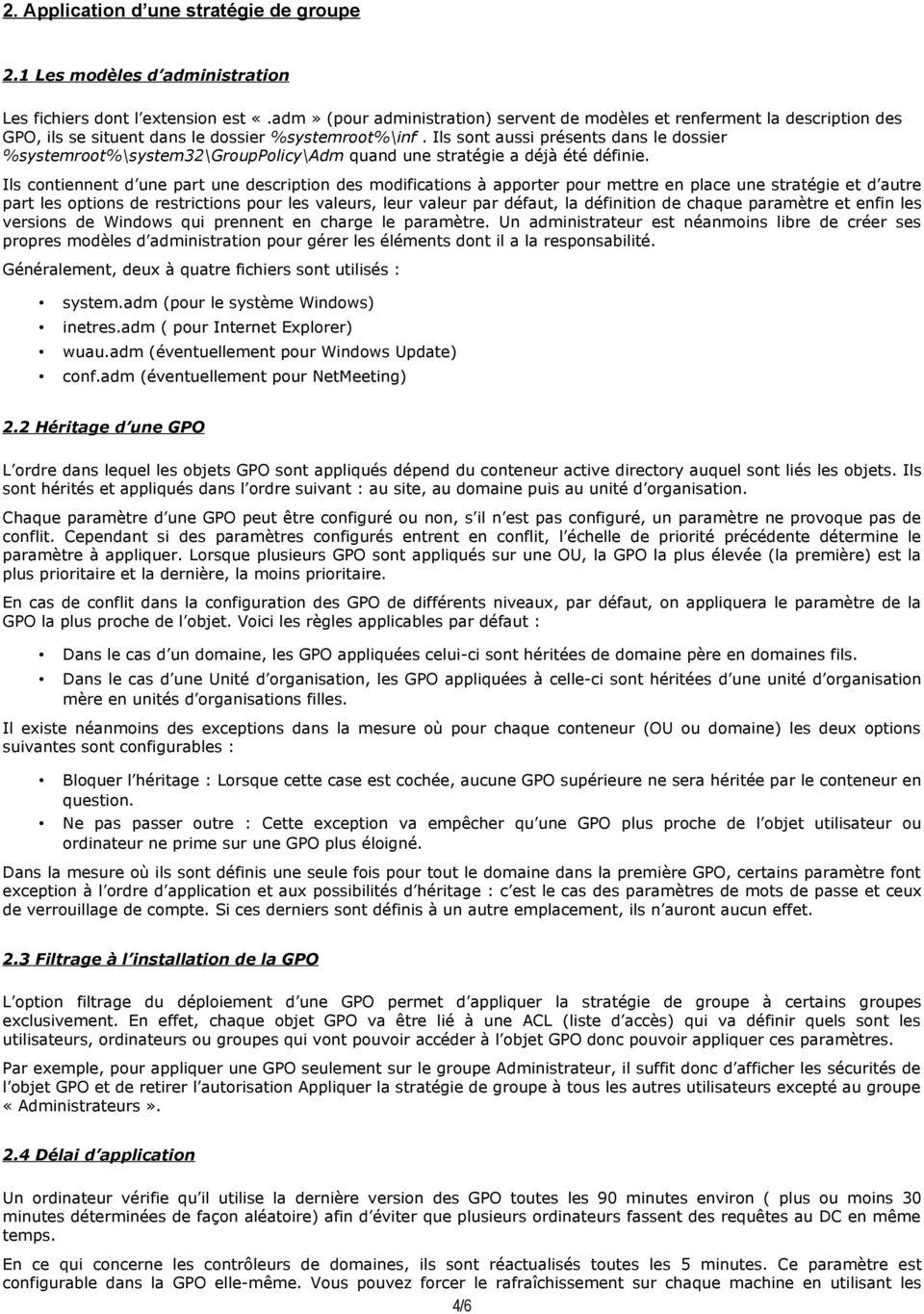 strategie de groupe gpo pdf
