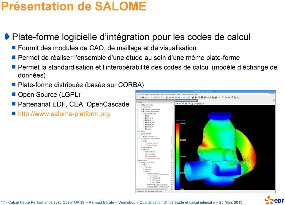 Calcul haute performance avec openturns pdf Cao open source