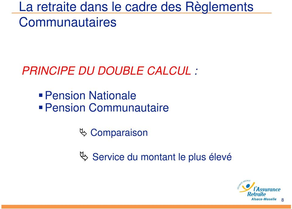 Pension Nationale Pension Communautaire