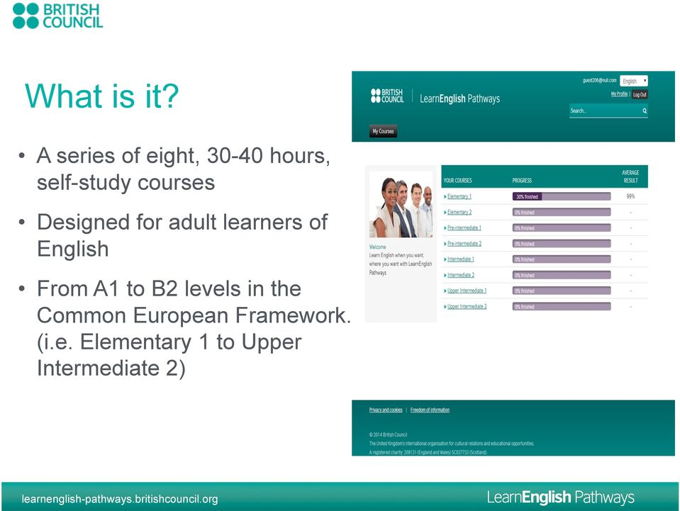 courses Designed for adult learners of English