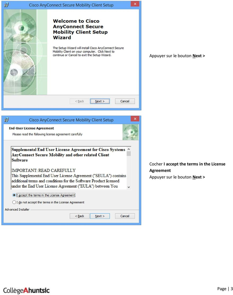 the License Agreement  Page
