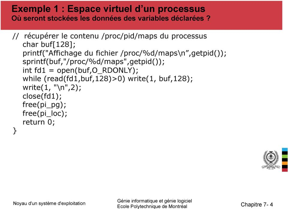 "/proc/%d/maps\n,getpid()); sprintf(buf,""/proc/%d/maps"",getpid()); int fd1 = open(buf,o_rdonly); while"