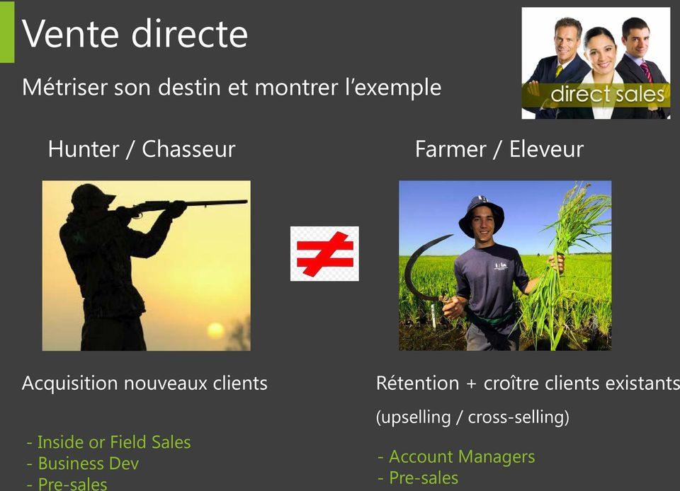 Field Sales - Business Dev - Pre-sales Rétention + croître clients