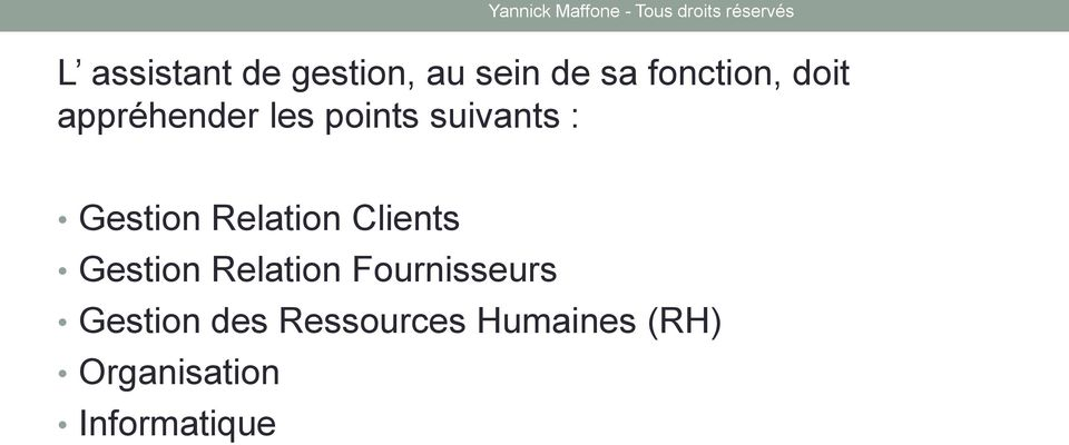 Relation Clients Gestion Relation Fournisseurs
