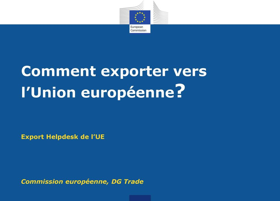 Export Helpdesk de l UE