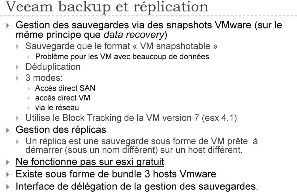 Tracking de la VM version 7 (esx 4.
