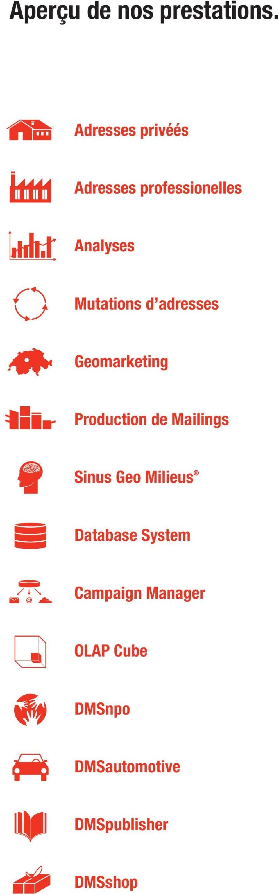 Mutations d adresses Geomarketing Production de Mailings