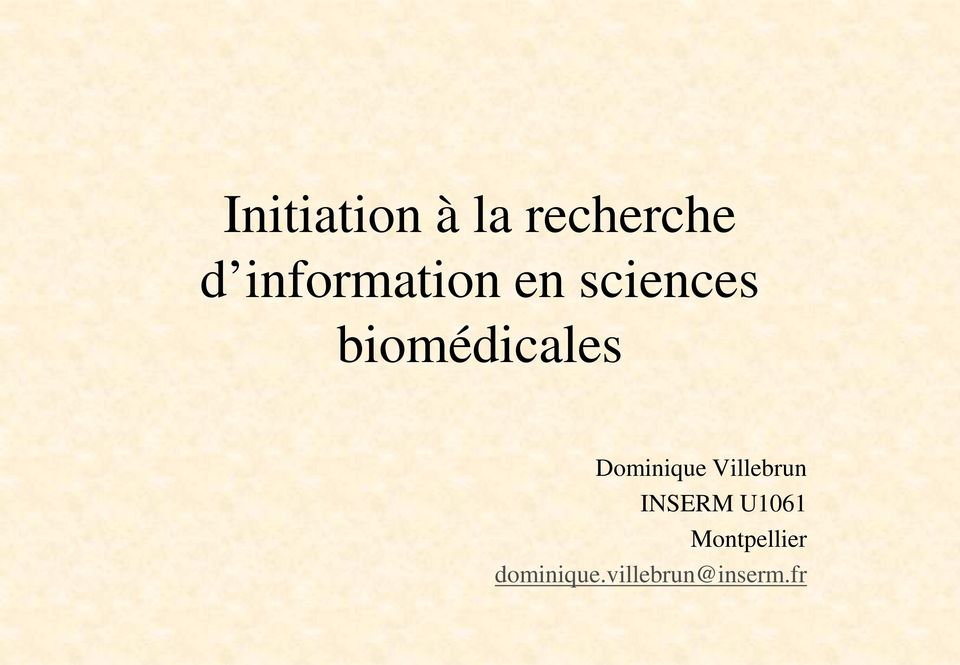 biomédicales Dominique Villebrun