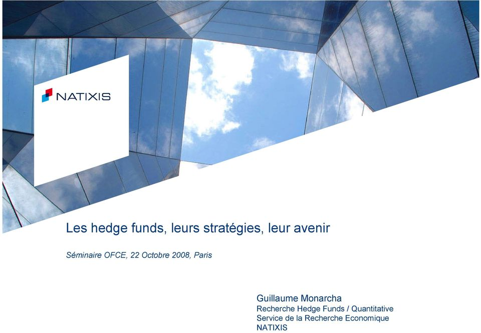 Hedge Funds / Quantitative Service de