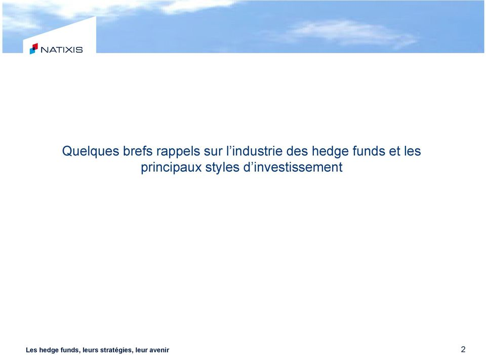hedge funds et les