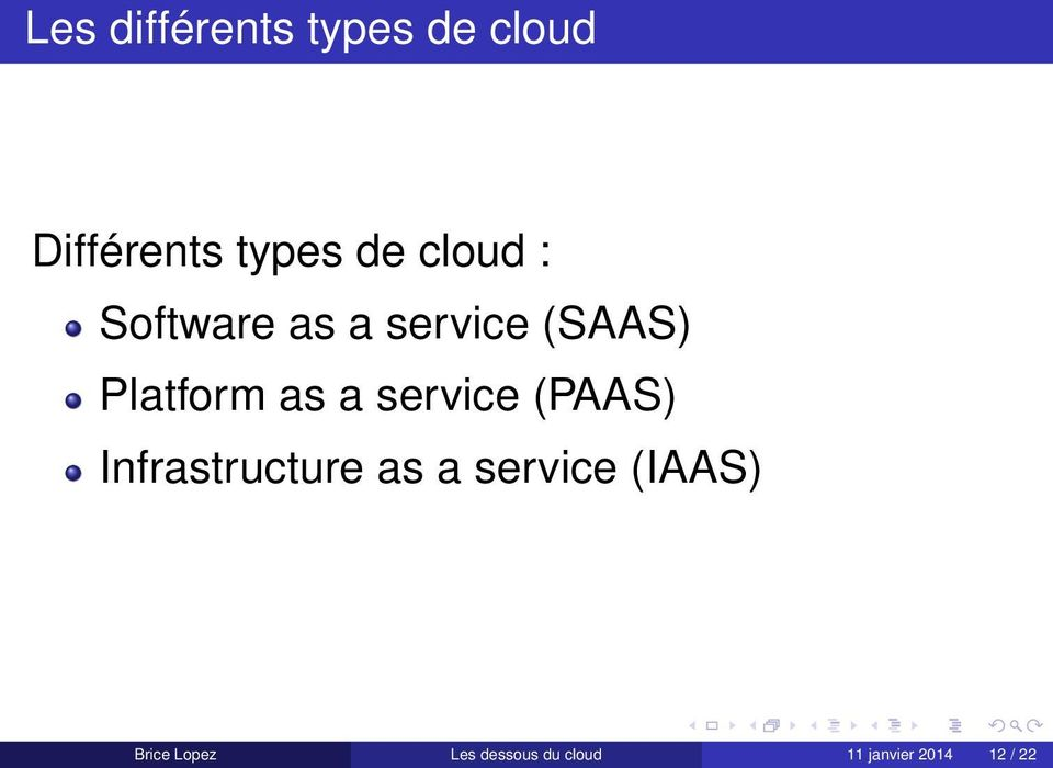 service (PAAS) Infrastructure as a service (IAAS)