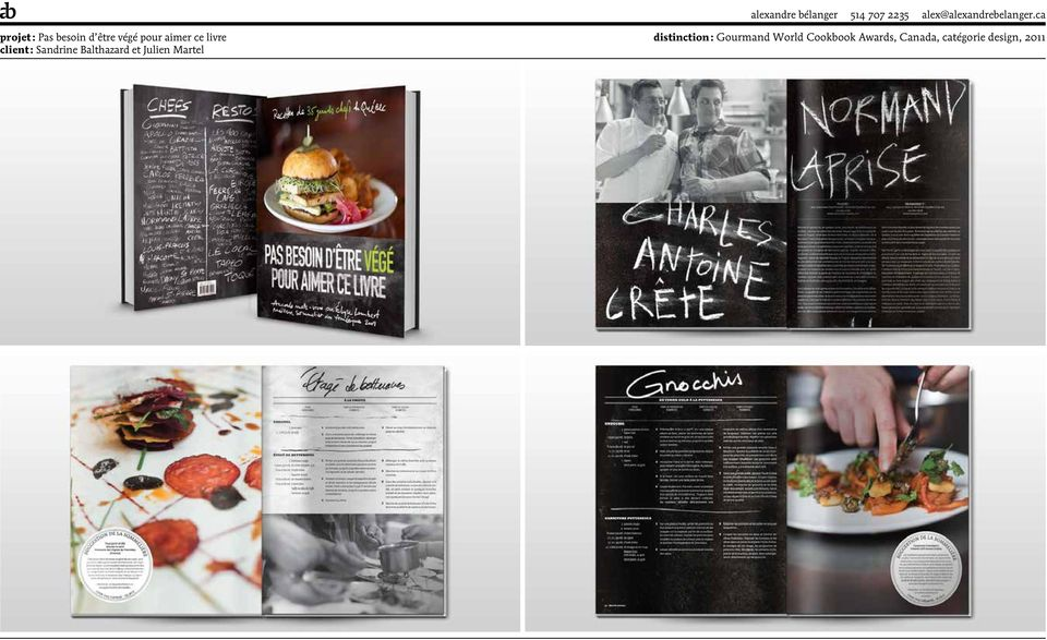 distinction : Gourmand World Cookbook Awards, Canada,