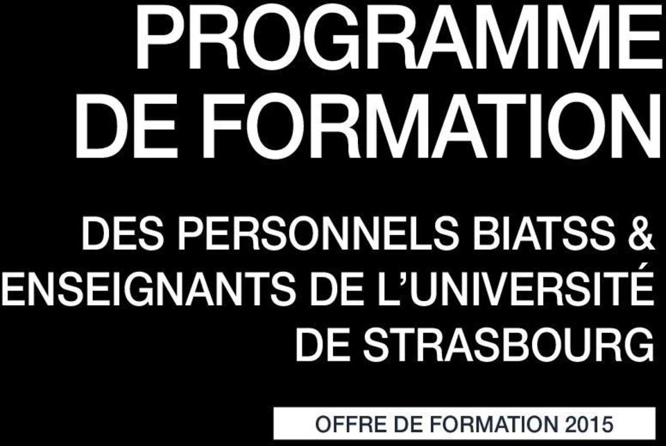 ENSEIGNANTS DE L UNIVERSITÉ