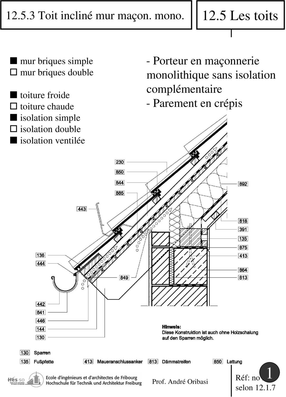 toiture chaude isolation simple isolation double isolation ventilée