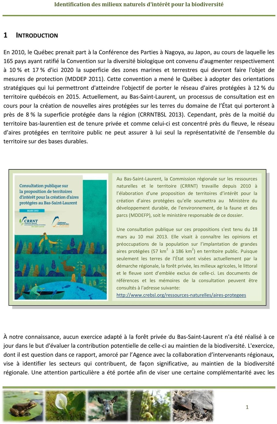 mesures de protection (MDDEP 2011).