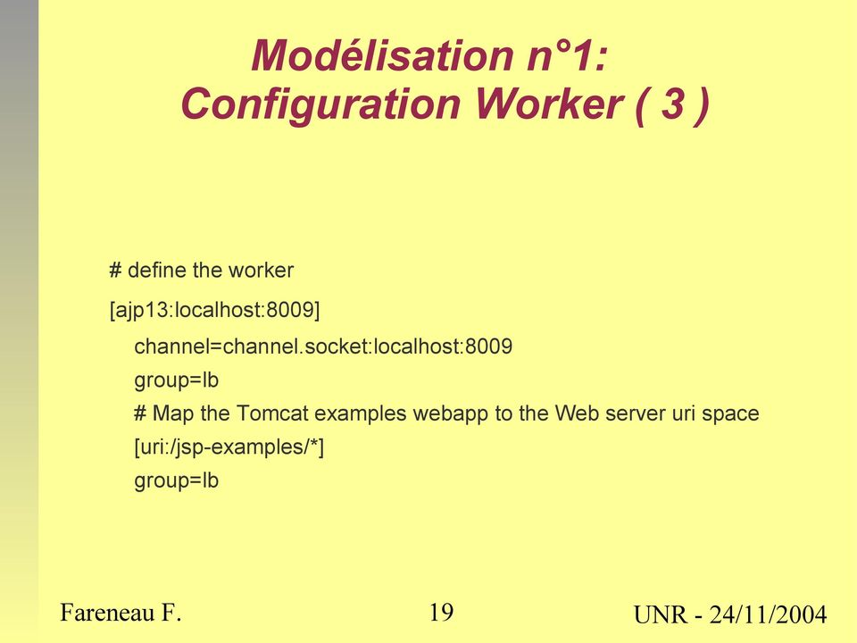 socket:localhost:8009 group=lb # Map the Tomcat examples