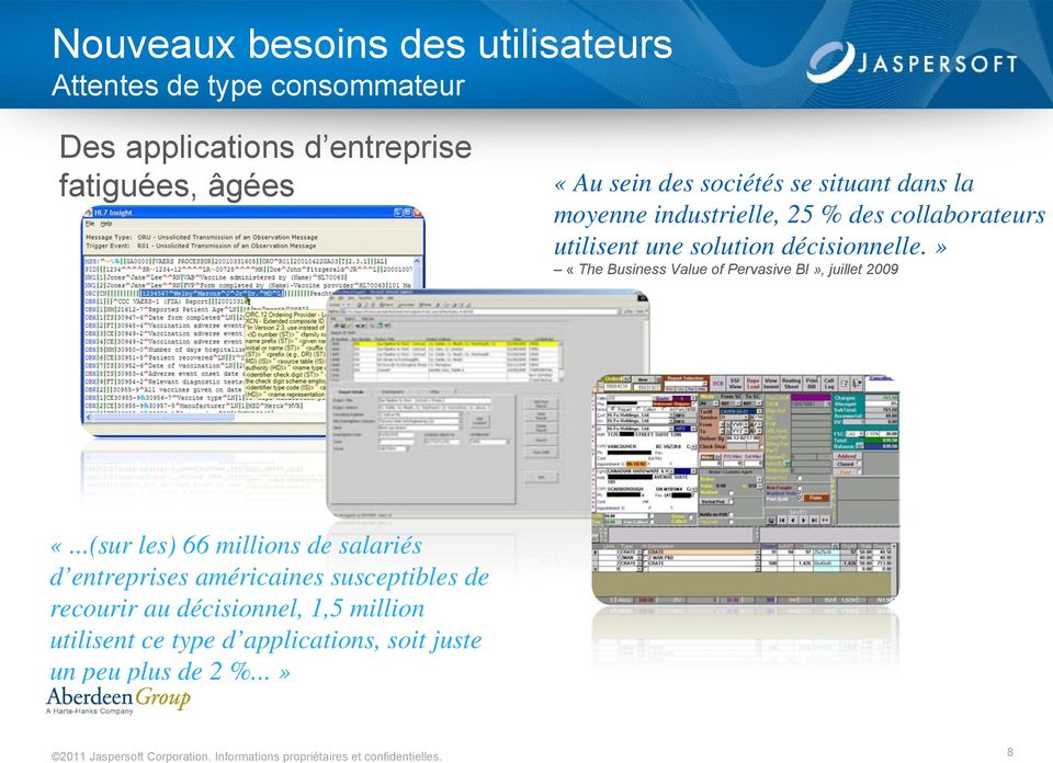 décisionnelle.» «The Business Value of Pervasive BI», juillet 2009 «.