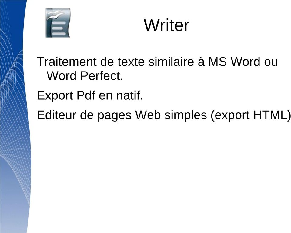 Perfect. Export Pdf en natif.
