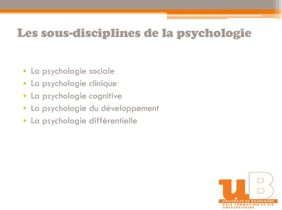 clinique La psychologie cognitive La