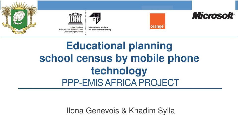 technology PPP-EMIS AFRICA