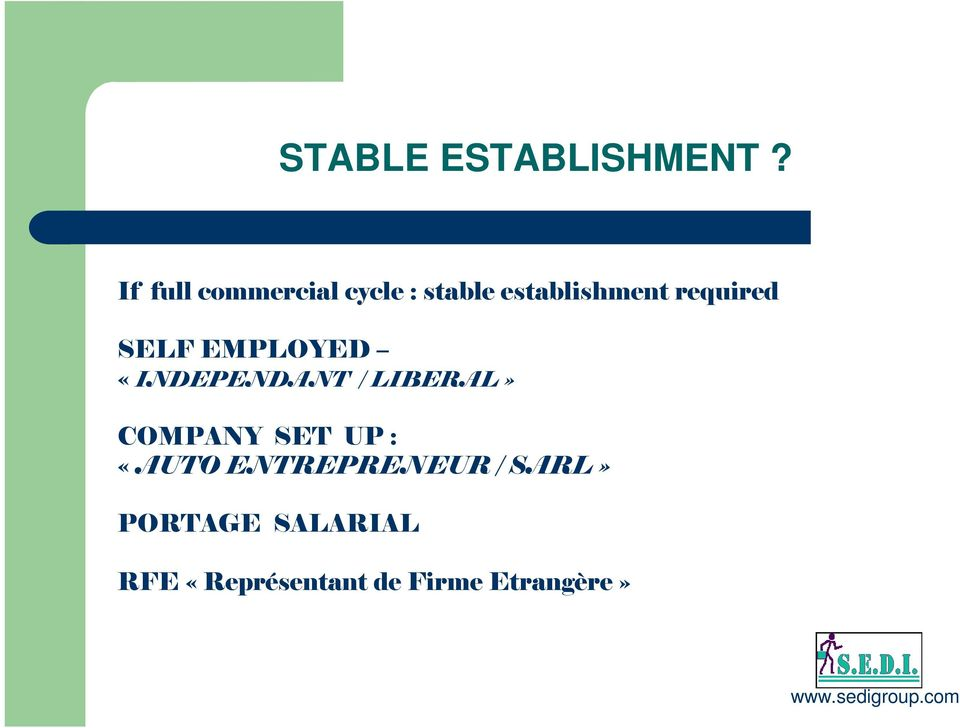 required SELF EMPLOYED «INDEPENDANT / LIBERAL»