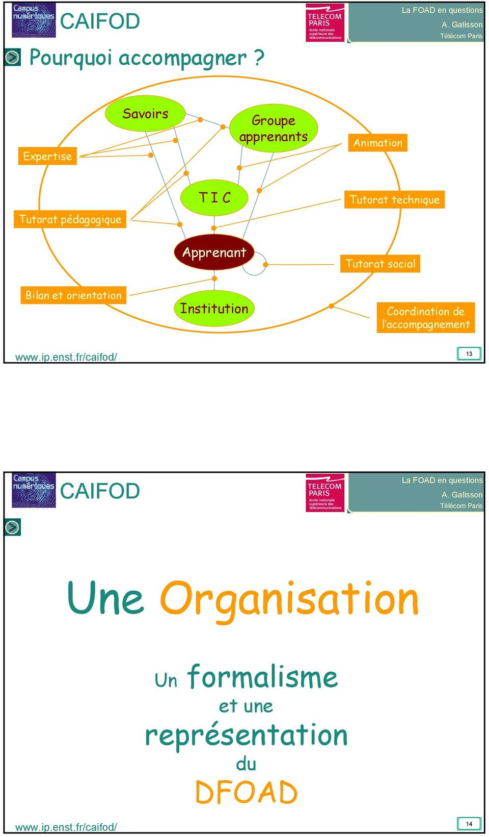I C Tutorat technique Apprenant Tutorat social Bilan et orientation