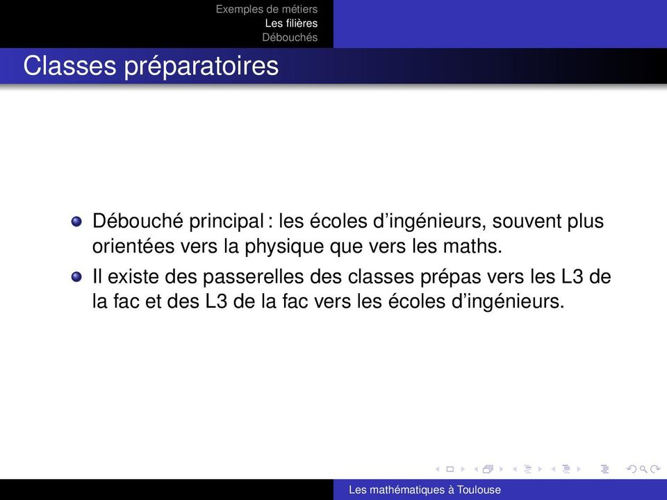 les maths.